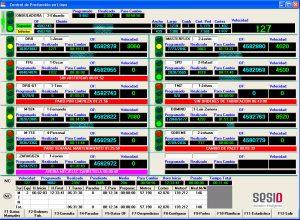 Captura de pantalla de nuestro módulo de control de producción.